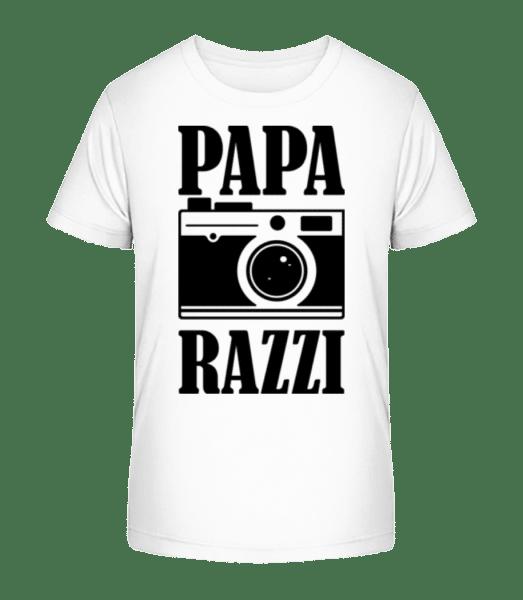 Papa Razzi - Kinder Premium Bio T-Shirt - Weiß - Vorn