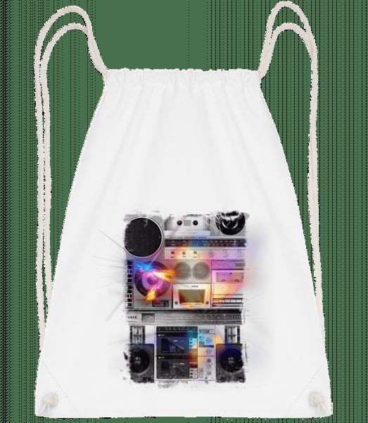 Ghettoblaster - Drawstring Backpack - White - Vorn