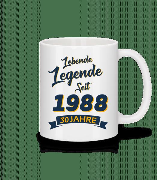 Legende Jahrgang 1988 - Tasse - Weiß - Vorn