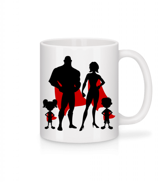 Superhero Family - Mug - White - Vorn