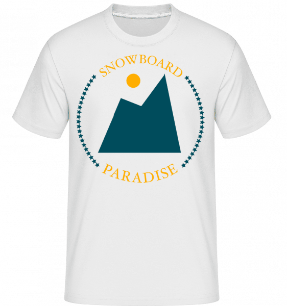 Snowboard Paradise Sign -  Shirtinator Men's T-Shirt - White - Vorn