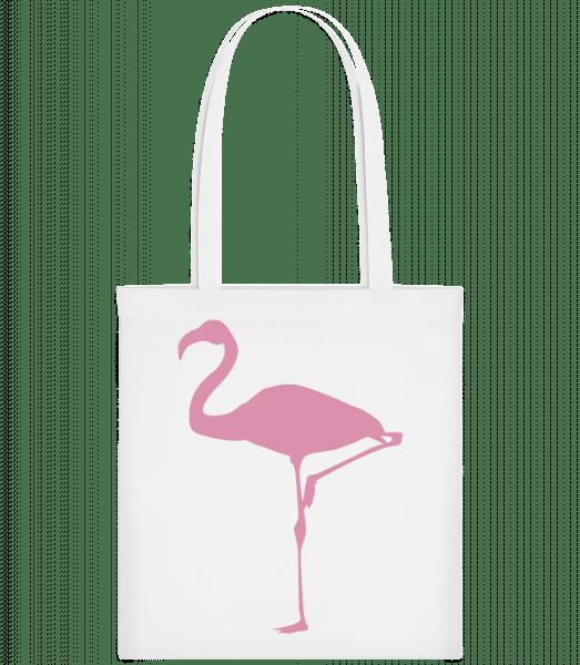 Flamingo - Stoffbeutel - Weiß - Vorn