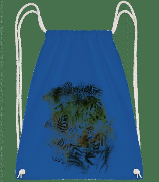 Big Cats Pack - Drawstring Backpack - Royal blue - Vorn