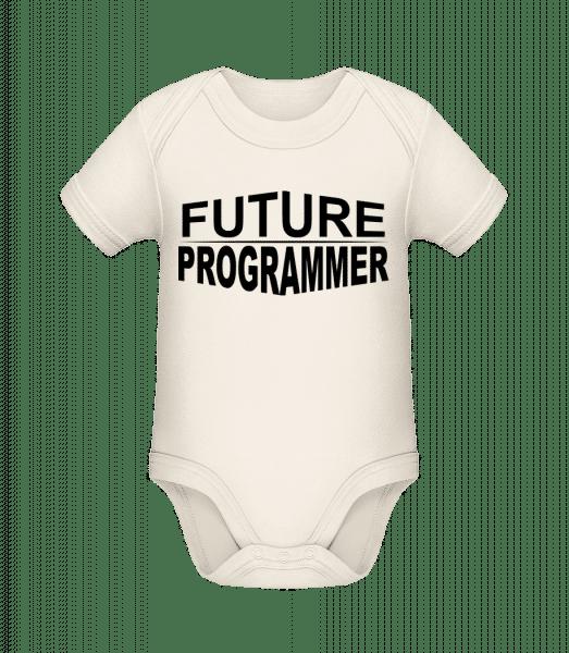 Future Programmer - Baby Bio Strampler - Creme - Vorn