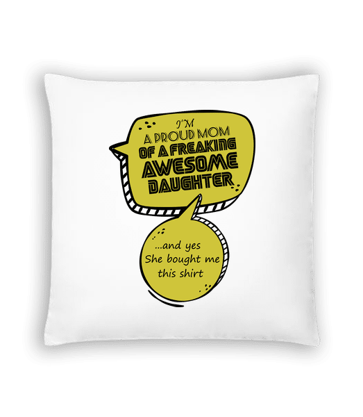 Proud Mom - Cushion - White - Vorn