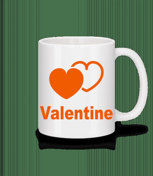 Valentine Heart - Mug - White - Vorn