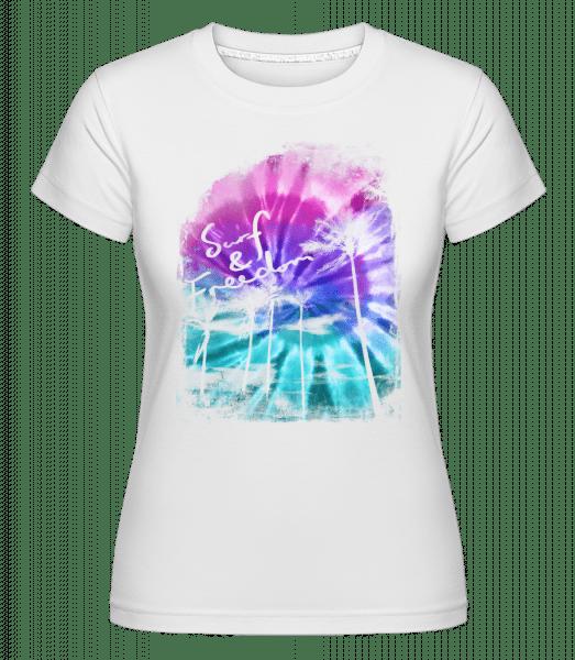 Surf And Freedom -  T-shirt Shirtinator femme - Blanc - Vorn