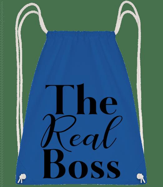 The Real Boss - Drawstring Backpack - Royal Blue - Vorn