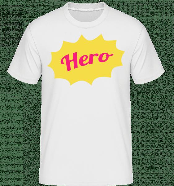 Hero Icon -  Shirtinator Men's T-Shirt - White - Front