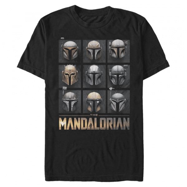 Mando Helmet Boxup - Star Wars Mandalorian - Men's T-Shirt - Black - Front