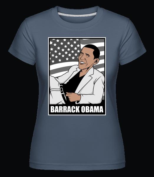 Obama Thriller -  Shirtinator Women's T-Shirt - Denim - Vorn