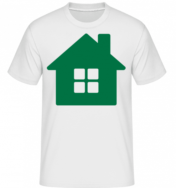 House Icon Green -  Shirtinator Men's T-Shirt - White - Vorn
