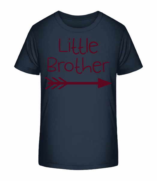 Little Brother - Kid's Premium Bio T-Shirt - Navy - Front