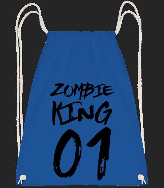 Zombie King - Drawstring Backpack - Royal Blue - Vorn
