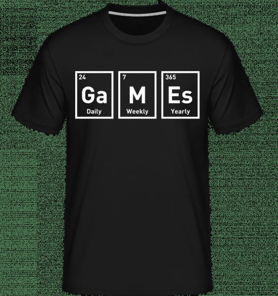 Games Periodic Design -  Shirtinator Men's T-Shirt - Black - Front