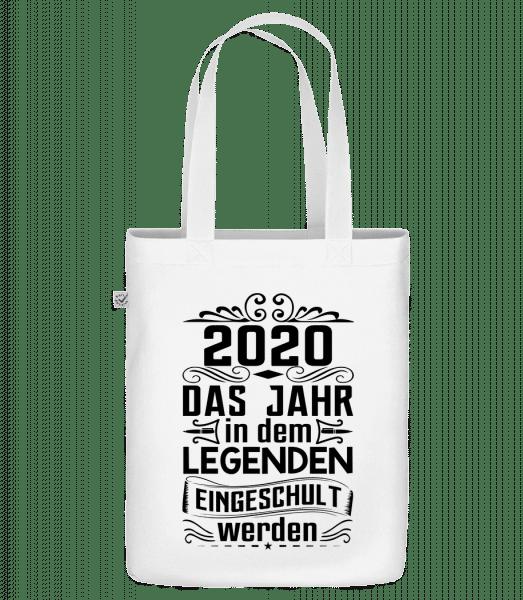 Legenden Werden Eingeschult 2020 - Bio Tasche - Weiß - Vorn
