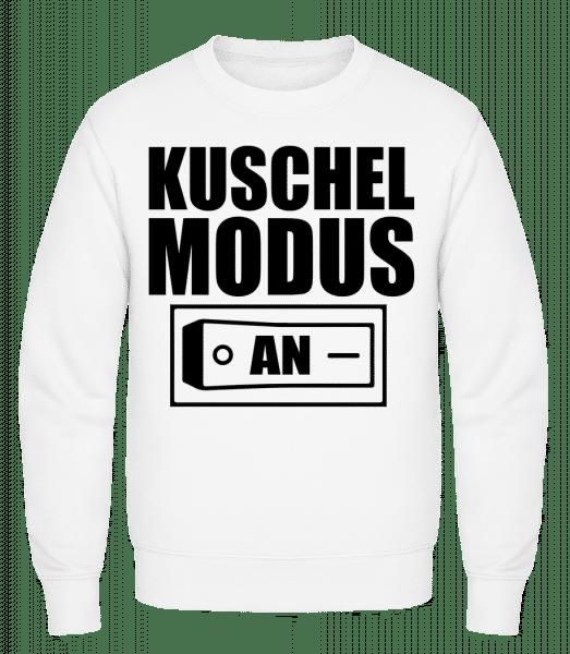 Kuschel Modus An - Männer Pullover - Weiß - Vorn