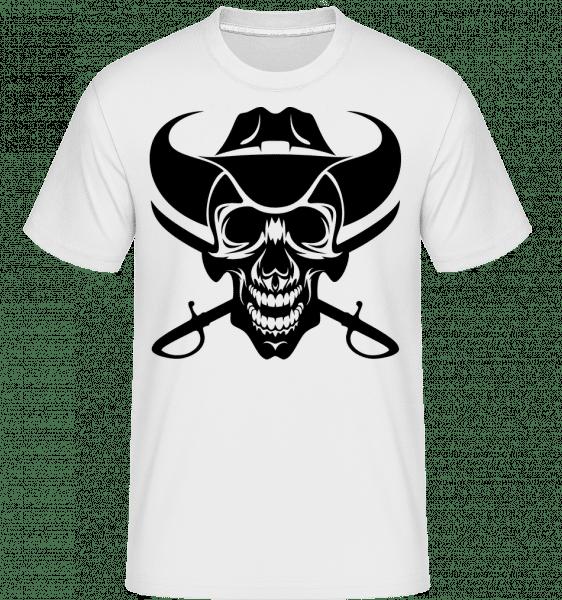 Wild West Skull -  Shirtinator Men's T-Shirt - White - Vorn