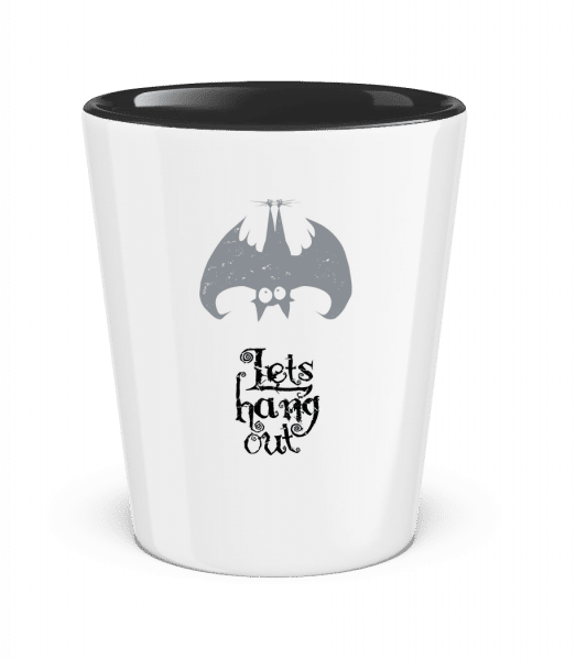 Let's Hang Out Bat - Two-Toned Shot Glass - White - Vorn