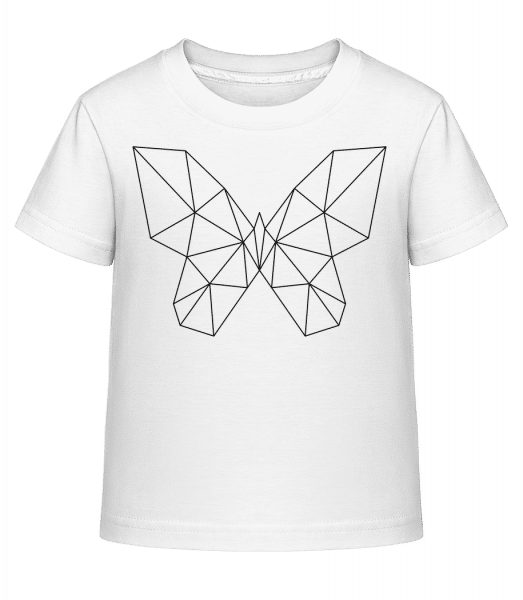 Polygon Butterfly - Kid's Shirtinator T-Shirt - White - Vorn