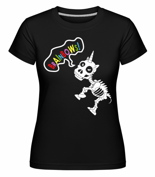 Dead Unicorn Rainbows -  Shirtinator Women's T-Shirt - Black - Vorn