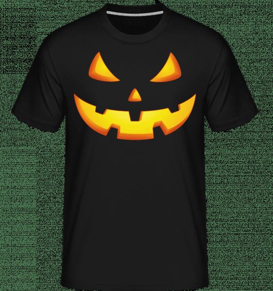 Pumpkin Face Evil -  Shirtinator Men's T-Shirt - Black - Front
