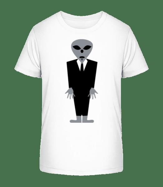 Alien With Suit - Kid's Premium Bio T-Shirt - White - Vorn