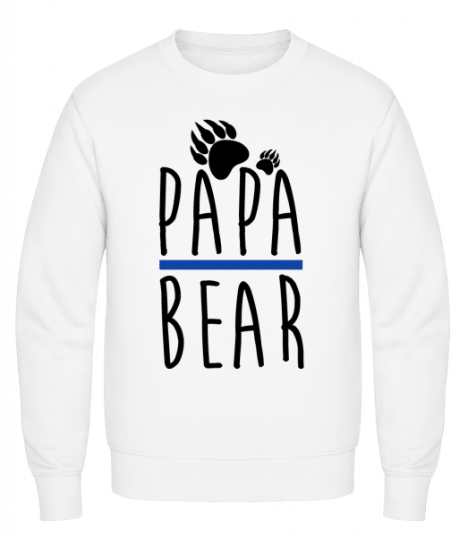 Papa Bear - Classic Set-In Sweatshirt - White - Vorn
