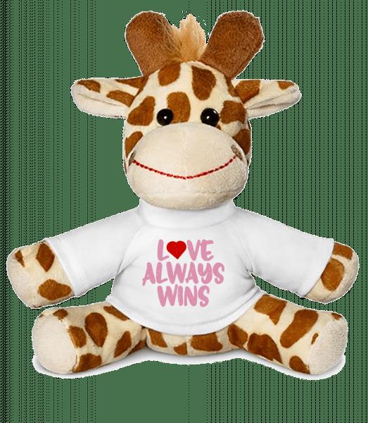 Love Always Wins - Giraffe - White - Vorn
