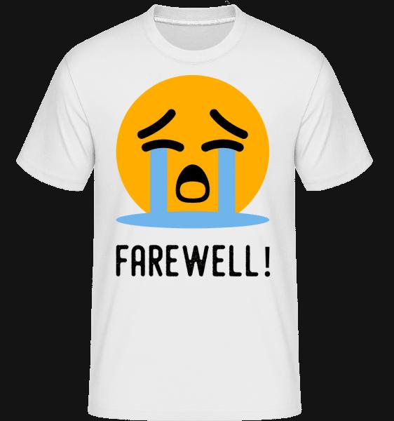Farewell Crying Emoji -  Shirtinator Men's T-Shirt - White - Vorn