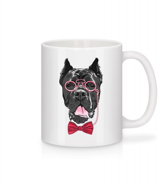 Dog With Glasses - Mug - White - Vorn