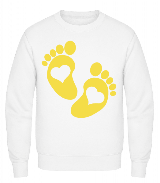 Baby Feet - Classic Set-In Sweatshirt - White - Vorn