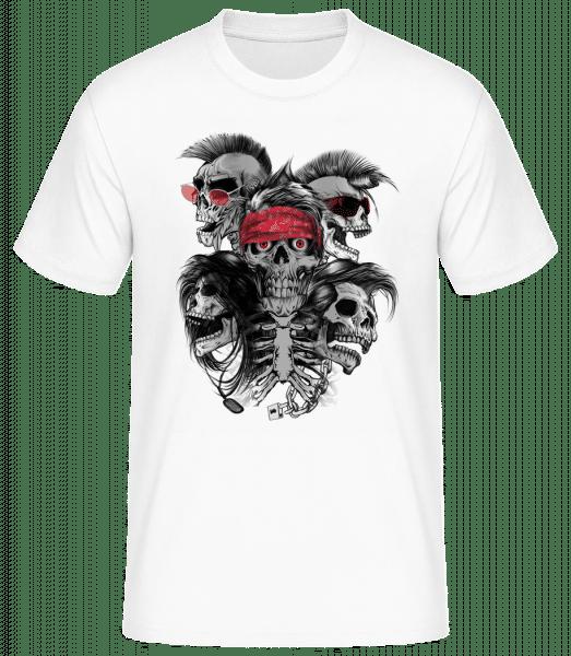 Crânes Fous - Basic T-Shirt - Bílá - Predné