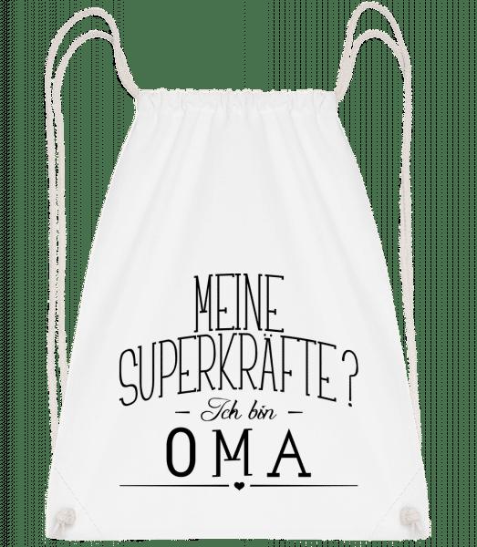 Superkräfte Oma - Turnbeutel - Weiß - Vorn