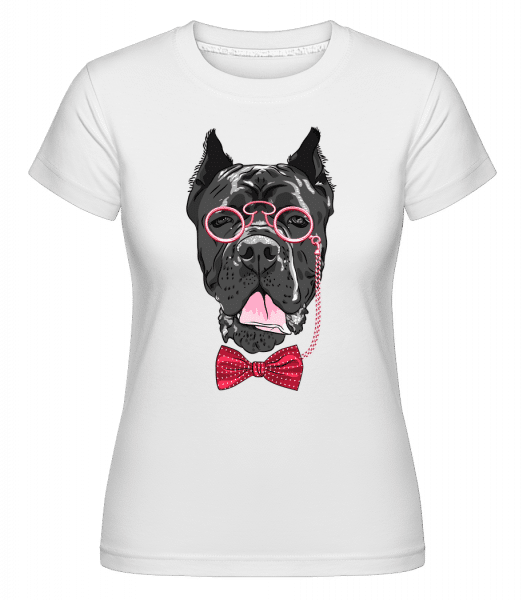 Dog With Glasses -  Shirtinator Women's T-Shirt - White - Vorn