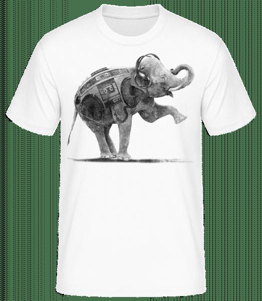 Ghettoblaster Elephant - Men's Basic T-Shirt - White - Front