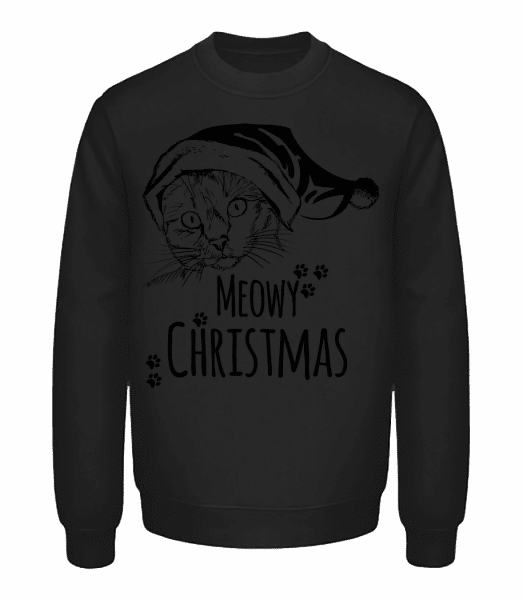 Meowy Christmas - Unisex Sweatshirt - Black - Vorn