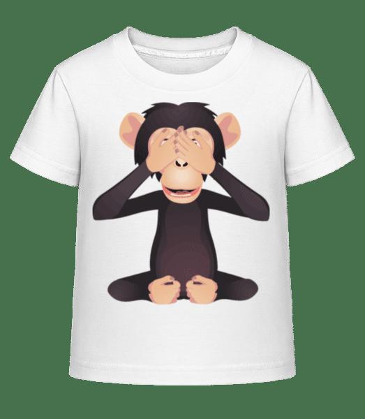 Blind Monkey - Kid's Shirtinator T-Shirt - White - Front