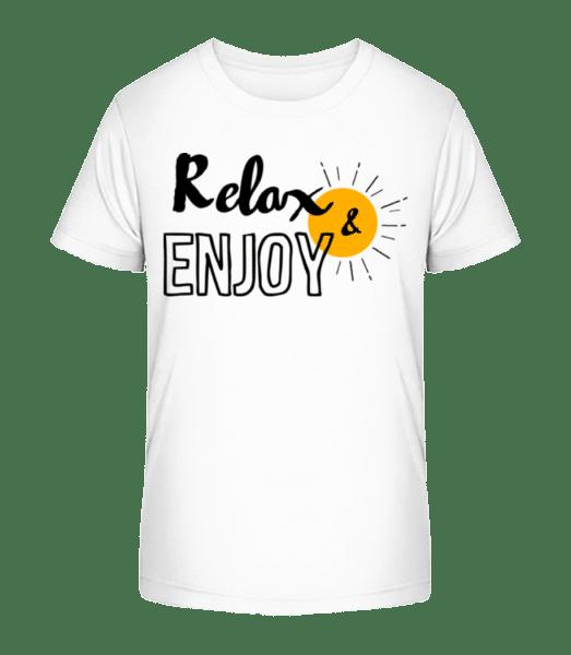 Relax Enjoy - Kid's Premium Bio T-Shirt - White - Front