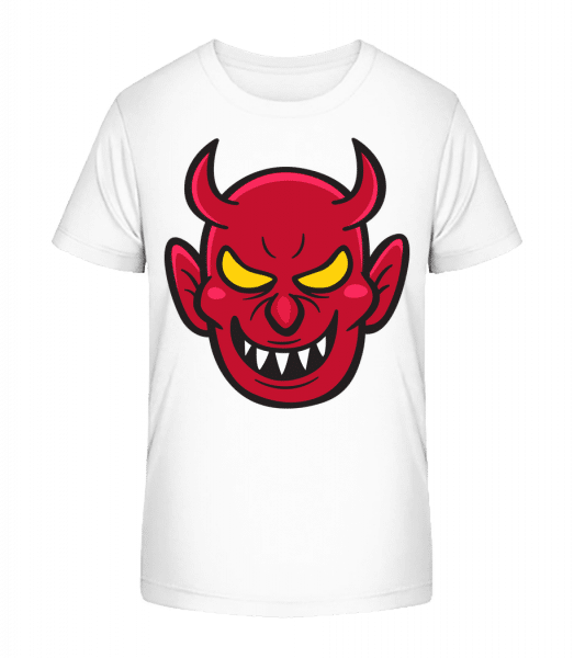 Nasty Devil - Kid's Premium Bio T-Shirt - White - Front