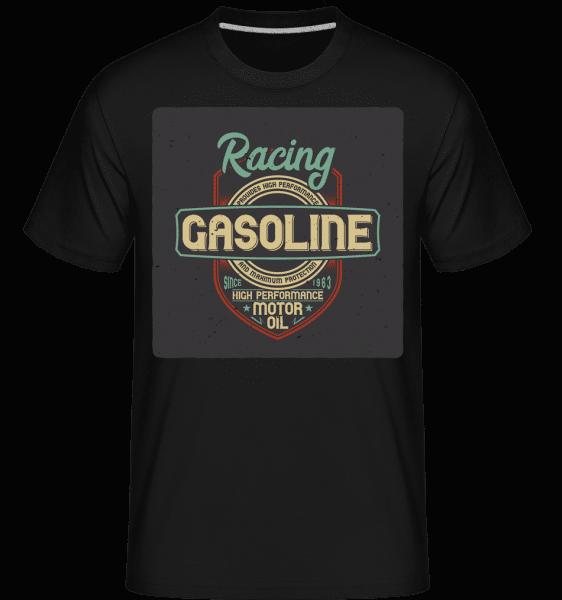Racing Gasoline -  Shirtinator tričko pro pány - Černá - Napřed