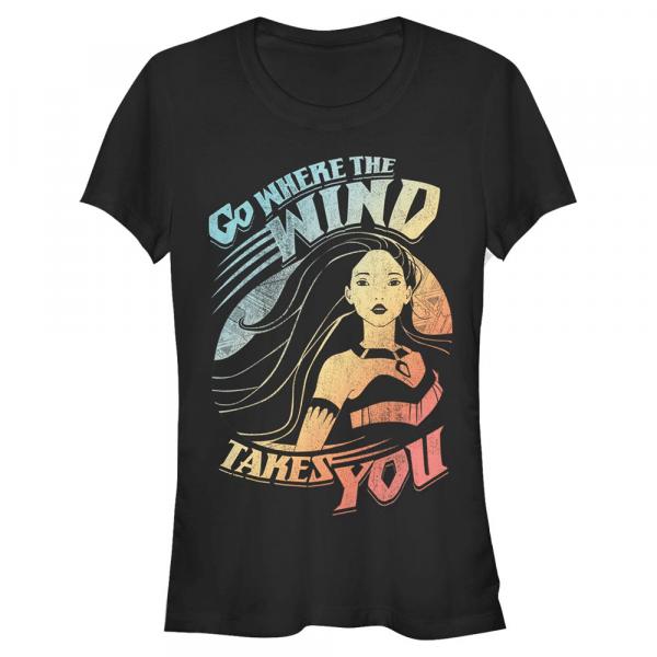 Wind takes you - Disney Pocahontas - Women's T-Shirt - Black - Front