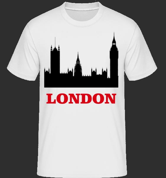 Londýn Skyline -  Shirtinator tričko pre pánov - Biela - Predné