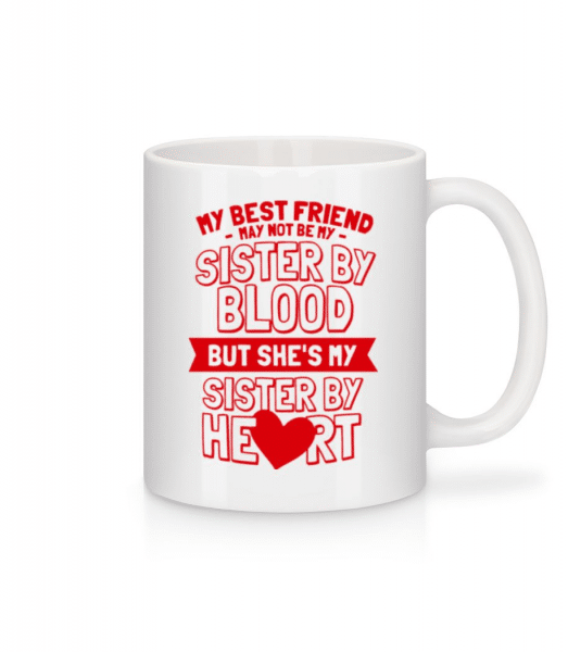 My Sister By Heart - Mug - White - Front