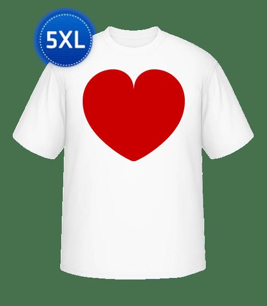 Heart - Round-T from XL to 5XL - White - Vorn