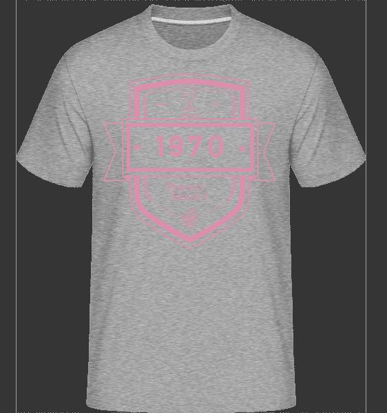 Perfekt Gereift 1970 - Shirtinator Männer T-Shirt - Grau meliert - Vorn
