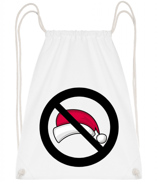 Christmas Forbidden - Drawstring Backpack - White - Vorn