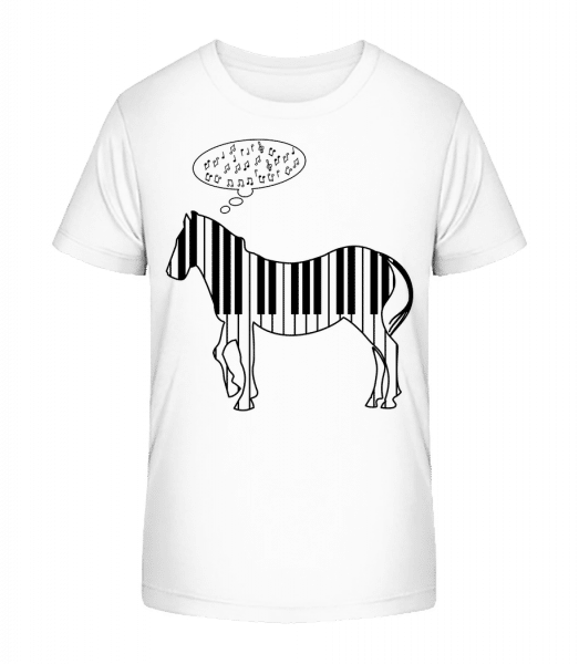 Piano Zebra - Kid's Premium Bio T-Shirt - White - Vorn