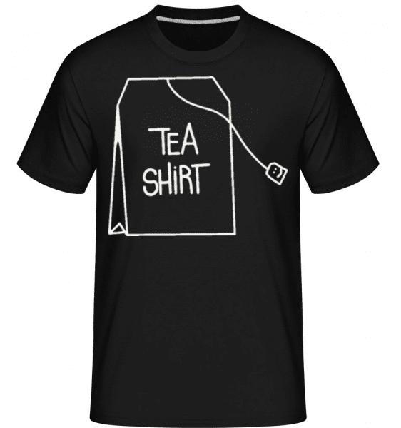Tea Shirt -  Shirtinator Men's T-Shirt - Black - Front