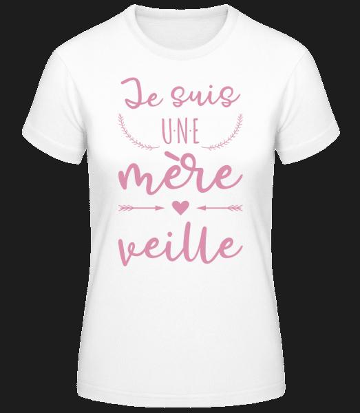 Je Suis Une Mère Veille - T-shirt standard Femme - Blanc - Vorn